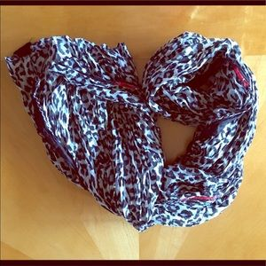 Accessories - Black and gray cheetah woven infinity scarf